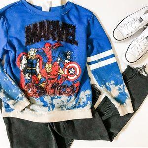 Kids Marvel Comics, Avengers Bleach Dye Sweatshirt